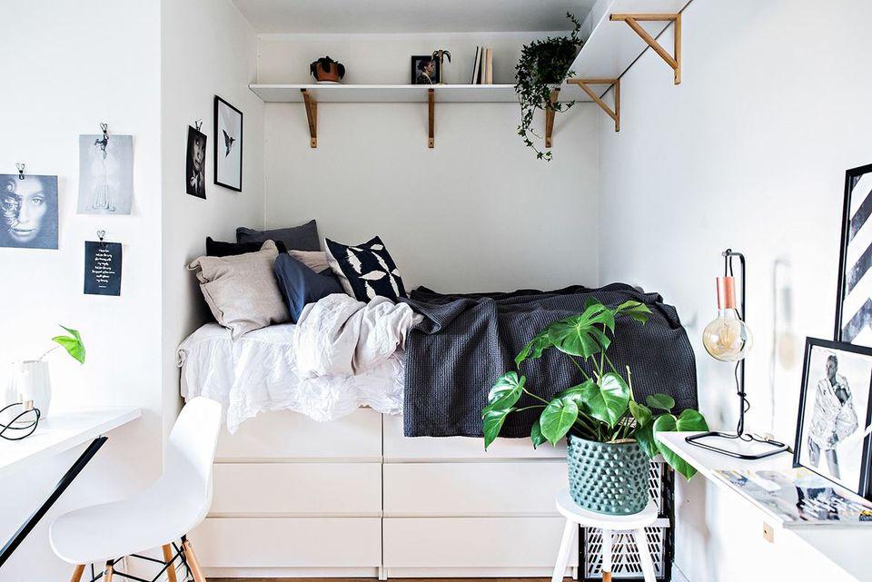 21 أفضل مآخذ تخزين ايكيا لغرف النوم الصغيرة