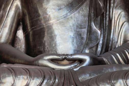 Matsayi na Buddha Hand Hand a cikin gidanka